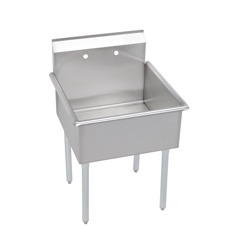 Elkay 1 Compartment Professional Grade Commercial Kitchen Stainless Steel Sink, 18'W x 21'L x 12'D