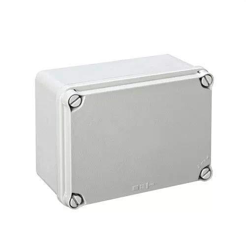 IDE EL161 IP65-IP67 Caja Estanca de Derivación con Tapa Opaca y Laterales Lisos, Gris, 116mm x 162mm x 76mm