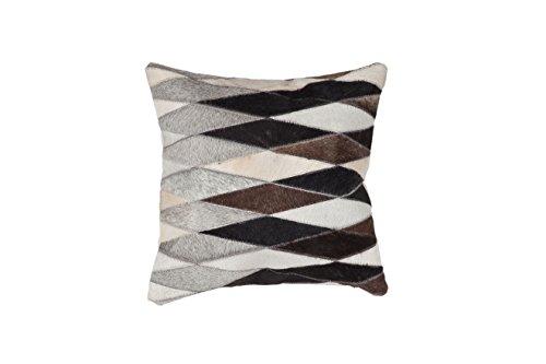 Cojines del sofá Tirar Moderna Design Couch Lavish Pillow 510 Rombos Modello Cuero 45 cm x 45 cm Beige/Cojines Decorativos Online Comprar