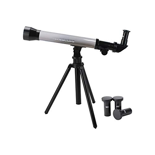 Telescopes for Adults Astronomy Professional, 57mm Aperture Telescope with Tripod, Astronomical Refracting Telescope, Travel Telescope with 3 Magnification Eyepieces, Astronomy Beginners Gifts Gray…