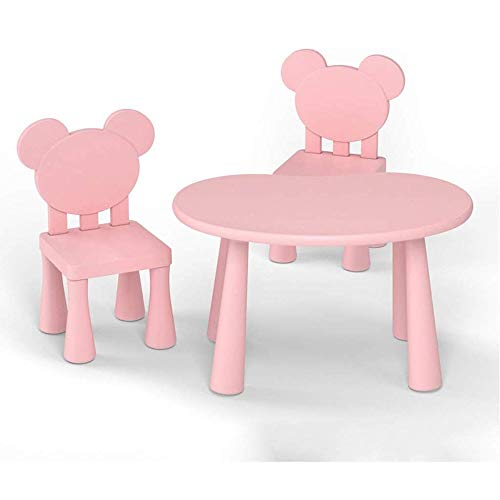 KLSJJ Children's Kids Table and Chairs Nursery Sets Indoor Use Unisex Best Gift (Color : Pink)