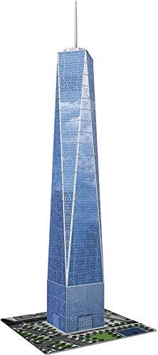 HSJ 3D Puzzle Tridimensional World Trade Center 216 Pieza Puzzle Modelo de Juguete Hecho a Mano Mano de Obra Exquisita