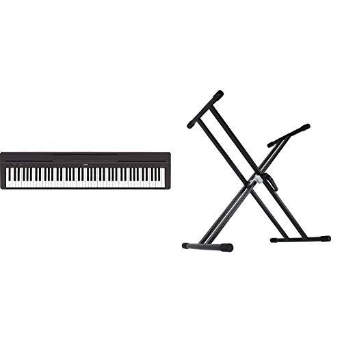 【セット買い】ヤマハ YAMAHA 電子ピアノ Pシリーズ 88鍵盤 ブラック P-45B + Dicon Audio KS-020 Keyboard Stand X型キーボードスタンド ダブルレッグ
