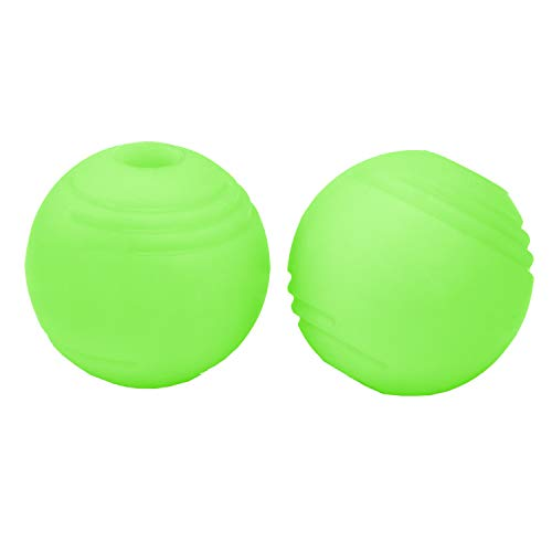 Chew King 3 inch Glowing Fetch Ball Dog Ball Toys 2 Pack Fits Ball Launcher