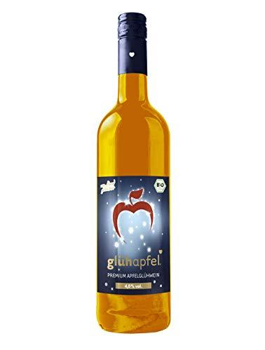 Elbler Glühapfel, Suave 4,0% Vol, 1 X 0,75 L, Vino Caliente de Manzana Ecológico, Elaborado con Manzanas Ecológicas, con Extractos de Invierno de Vainilla, Sidra
