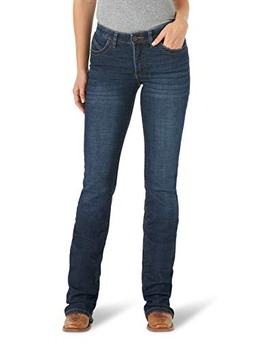 Wrangler Women's Willow Mid Rise Boot Cut Ultimate Riding Jean, Lovette, 15W x 34L