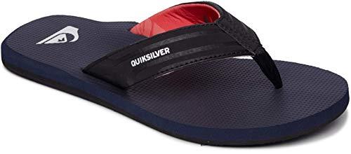 Quiksilver Island Oasis Sandalias para hombre, Negro (Negro/Azul/Rojo), 47 EU
