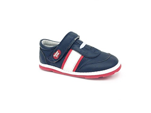 Tommy Tickle Baby Jungen Trax Sports Shoe Sneakers, Mehrfarbig (Marineblau / weiß / rot), 24 EU