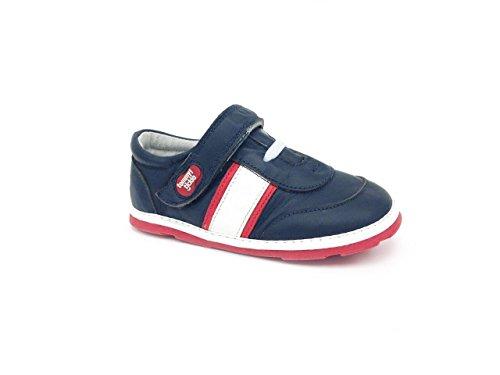 Tommy Tickle Baby Jungen Trax Sports Shoe Sneakers, Mehrfarbig (Marineblau / weiß / rot), 24 EU