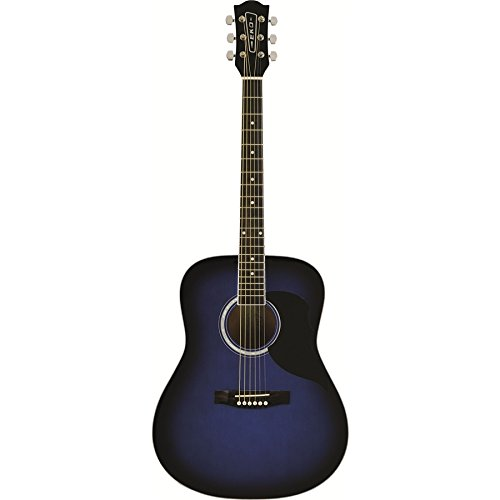 "EKO music Ranger 6 Eq Acoustic guitar Acorazado""Dreadnought"" 6strings Negro, Azul - Guitarra (6 cuerdas)"