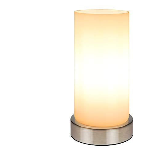 Sanfant Nachttischlampe Tischlampe, Tischleuchte Nachttisch Leuchte Lampe 3 Helligkeitsstufen Lampenschirm für Schlafzimmer/Touchfunktion/Stufen-dimmbar E14(Warmes Weiß)