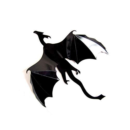 DAIZHJ 7 Stuks/Suite Fantasy Leuke Muursticker Decoratieve Dinosaur Gift 3D Draak Muur Draak Silhouette