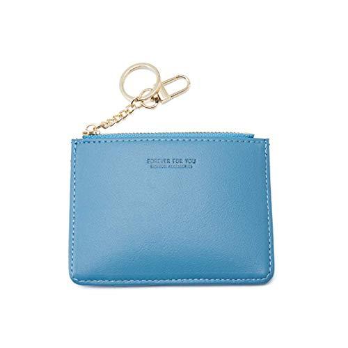 Eysee - Portafoglio da donna, in pelle sintetica, stile casual, con scomparti per carte di credito, stile retrò Blu Blu 11cm(L)*8cm(H)*0.05cm(W)