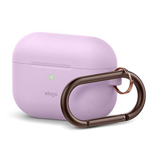 Capa elago original projetada para Apple AirPods Pro Capa para AirPods Pro - Capa protetora completa de silicone com chaveiro, Lavender