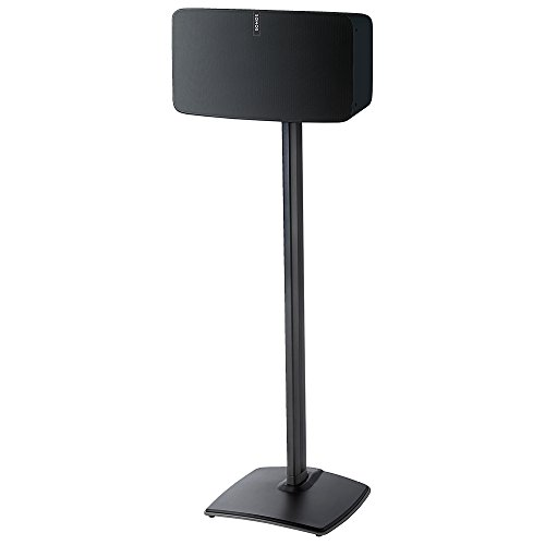 Sanus Wireless Speaker Stand for Sonos Five & Play:5 – Audio Enhancing Design for Vertical & Horizontal Orientations with Built-in Cable Management and Premium Aluminum Materials (Black) - WSS51-B1