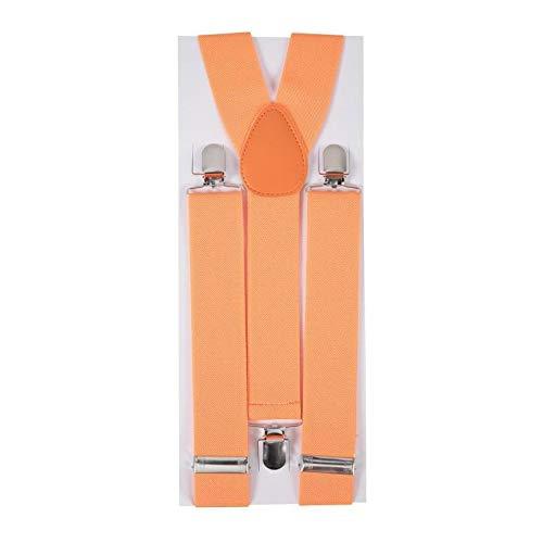 P'TIT CLOWN 56005 Bretelles - Largeur 3.5 cm - Orange Fluo