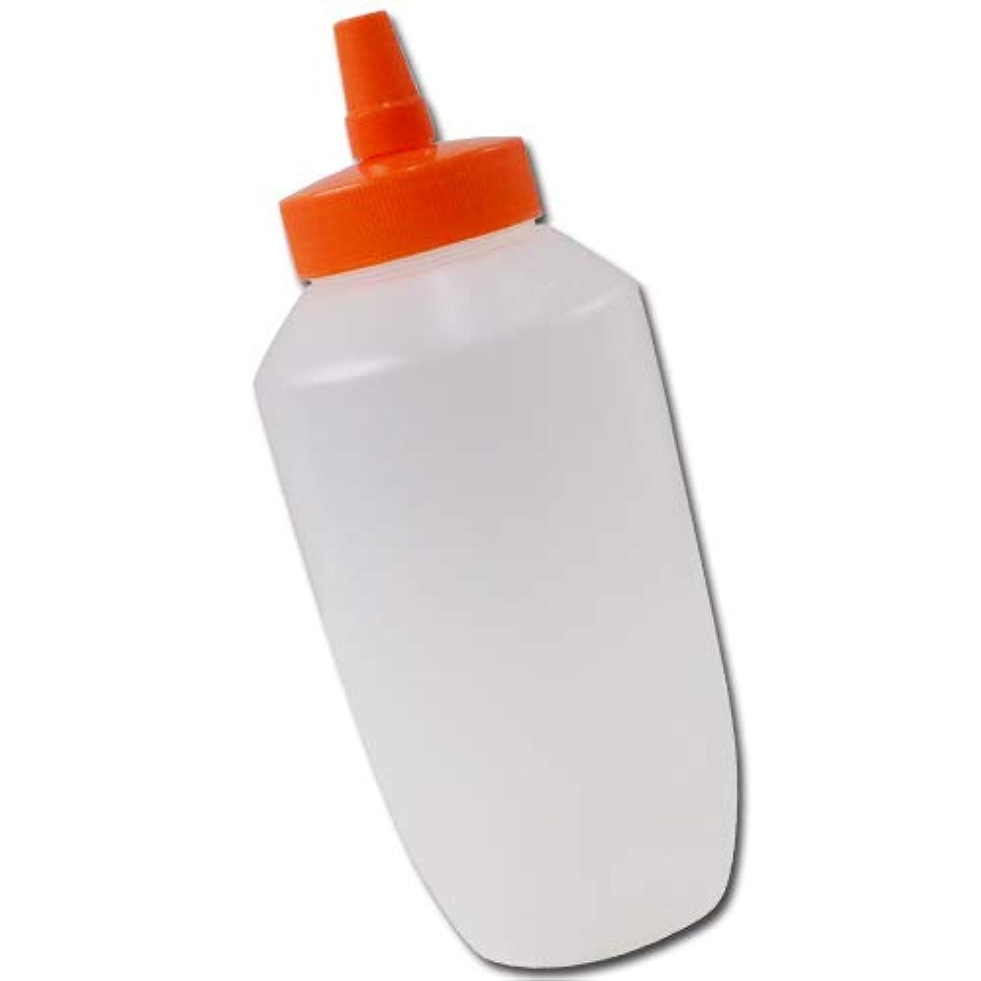 見える開梱醜いはちみつ容器740mll(オレンジキャップ)│業務用ローションや調味料の小分けに詰め替え用ハチミツ容器(蜂蜜容器)はちみつボトルビッグな特大サイズ