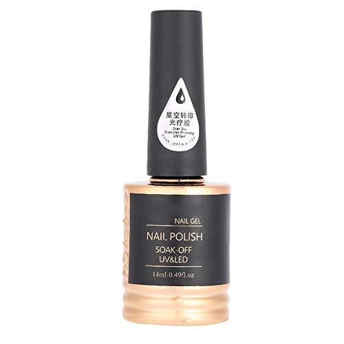 Adhesivo para transferencia de uñas, 14 ml Pegamento para uñas para gel de uñas Star Manicure Foil Sticker Transferencia adhesiva para salón de belleza y hogar