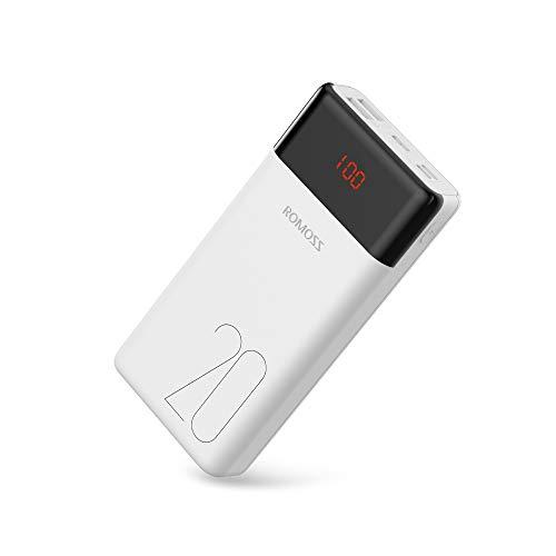Romoss Power Bank 20000mAh Type C, Carica Rapida 3,1 A / 5 V a Massima compatibilità con Tutti i Telefoni Cellulari, Tablet
