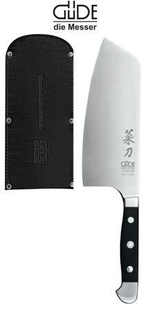 Serie Alpha-Olive 21 cm /& gratis Lederscheide von Güde Güde Messer Brotmesser