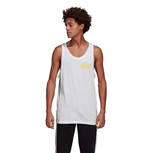 adidas Originals - Camiseta sin mangas para hombre -  Blanco -  X-Small