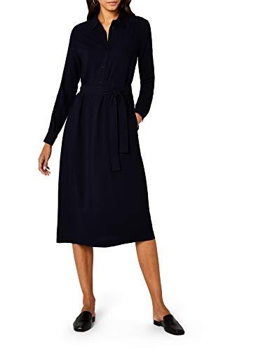 Marc O'Polo Damen Kleid  801113721203, Blau (Manic Midnight 811), 40