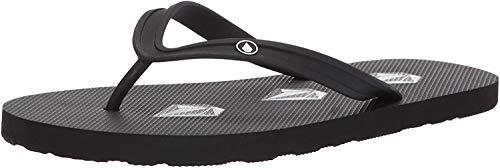Volcom Men's Rocker Flip Flop Sandal, Stoney Black, 11 D US