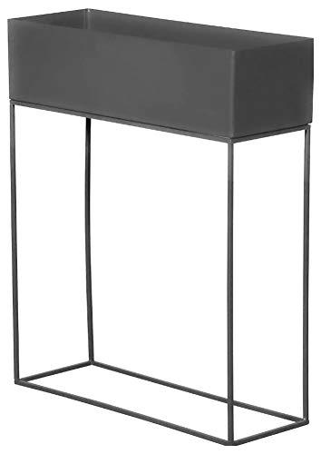Brandsseller Jardinera de metal para plantas, 55 x 20 x 70 cm, para interior y exterior, para plantas, color gris