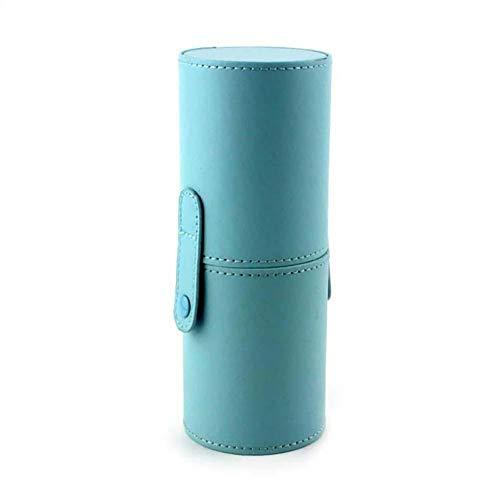 Skyeye. Support pour pinceaux de maquillage en cuir synthétique simple et élégant pour femmes - Boîte de rangement portable pour pinceaux de maquillage - Convient pour les voyages et les sorties - Noir, bleu (Bleu) - ATYYGFPFBU