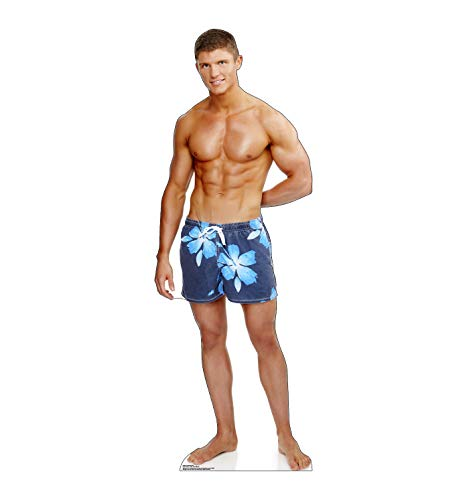 Advanced Graphics Beach Muscle Man Life Size Cardboard Cutout Standup
