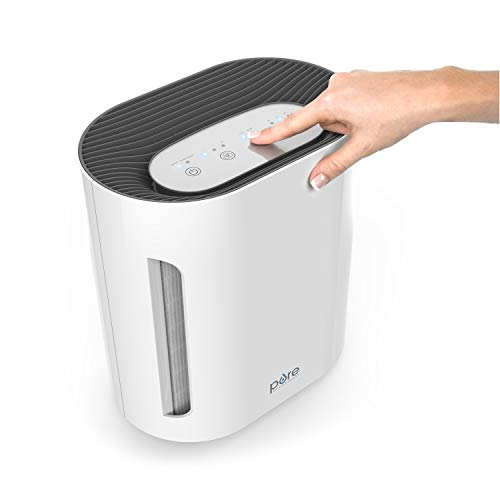 Pure Enrichment PureZone 3-in-1 Air Purifier - True HEPA Filter & UV-C Sanitizer Cleans Air & Eliminates Common Airborne Allergens - Ideal for Dust, Pet Hair, Smoke & More — For Home, Office & Bedroom