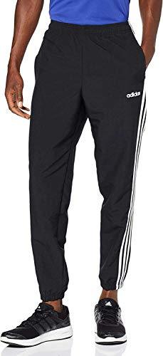 adidas Herren Essentials 3-Streifen Wind Trainingshose, Black/White, XL