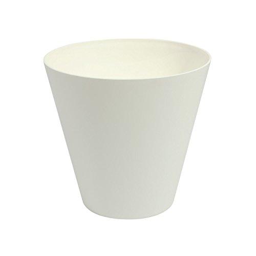 Blanc 25 cm de diametre TUBUS pot de fleur