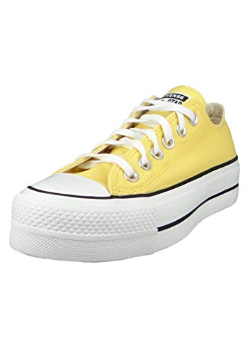 Converse Damenschuhe-Sneaker 568627C Chuck Taylor All Star Lift - OX Textil gelb Butter Yellow/White/Black, Groesse:36 EU