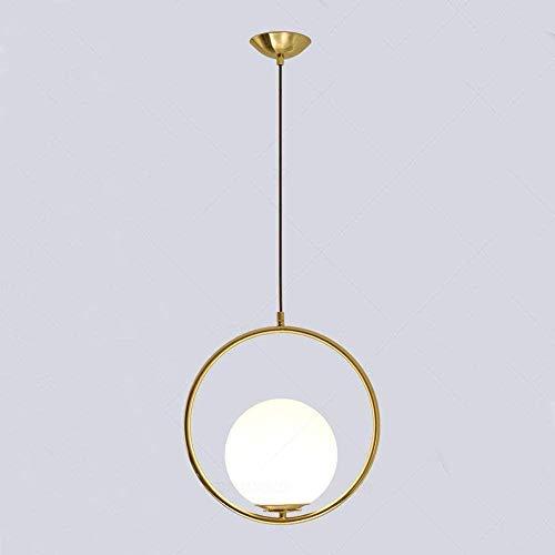 Luster Nordic Gebaseerd op E27 bollen Modern goud Fashion Iron and glazen kroonluchter Sferische Aisle Corridor Porch Lights Kleine Bar kroonluchter creatieve persoonlijkheid Lamps (Ronde)
