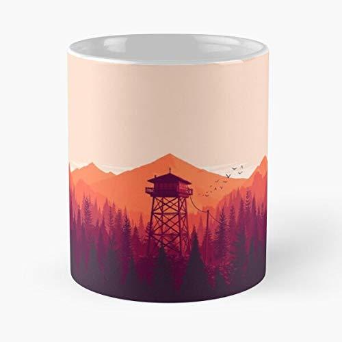 xuthonaz Sunset Video Landscape Game Watch Fire Firewatch Best 11 oz Kaffeebecher - Nespresso Tassen Kaffee Motive