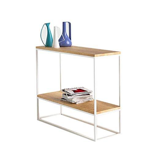 Jcnfa-tafel, 2 lagen, rechthoekige tafel, sofa en consoletafel, rechthoekig opbergrek, decoratieve vitrine, 2 kleuren
