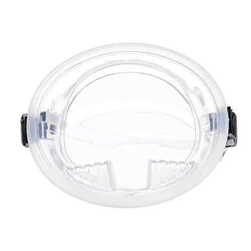 SOIMISS Taucherbrille Unisex mit Pempered Glass Transparent Schwimmbrille Gehärtetem Glas Große Ansicht für Unisex Tauchen Schnorcheln