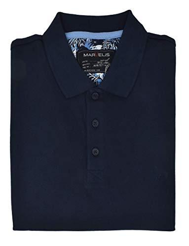 Marvelis Poloshirt Pique Basic dunkelblau Halbarm Reine Baumwolle, Größe:XXL