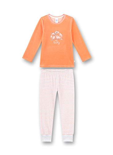 Sanetta Mädchen Nicki-Schlafanzug Eule,apricot 232507 (104)