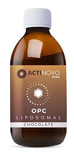 ActiNovo PLUS Liposomales OPC - mit Rohkakao | hochdosierte Polyphenole | Pflanzliche Antioxidation | 250 ml | Tagesdosis 200 mg OPC | hohe Bioverfügbarkeit | vegan