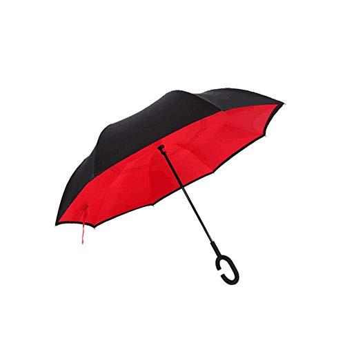 Blentude Umgekehrter Regenschirm Mit Doppelschicht Und C-förmigem Griff -Wasserdichter Handfreier Regenschirm