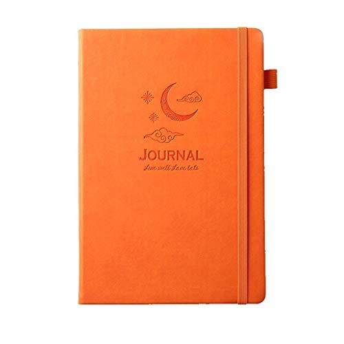SFF Agenda de bureau en cuir pour magazines et planificateurs d'affaires Couleur : orange clair de lune