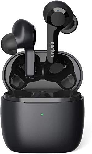 EarFun Air Bluetooth Kopfhörer, In Ear Kopfhörer Kabellos mit 4 Mikrofone Geräuschunterdrückung, In-Ear-Erkennung, 35 Std. Spielzeit, Kaballose Ladeetui, Tiefbass, Touch-Bedienung, IPX7 Wasserdicht