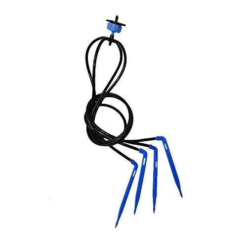 TIGERROSA Nebulizador Terraza 4L 8L Sistema De Goteo De Flecha De 4 Vías Sistema De Riego por Emisor Micro Gotero De Flujo para Riego De Ahorro De Agua Invernadero 1Set-8L Azul
