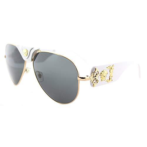White Aviator Sun Glasses
