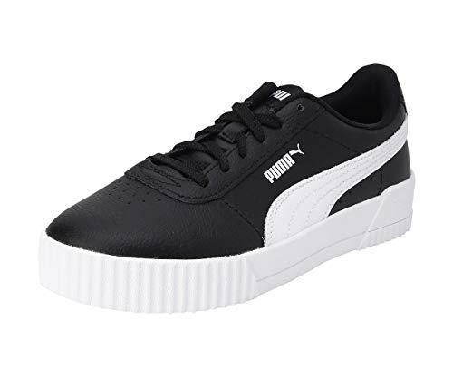 PUMA Carina L, Zapatillas Mujer, Black White White, 38.5 EU