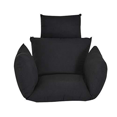 Kaibrite - Sillón colgante de algodón 6D, color negro