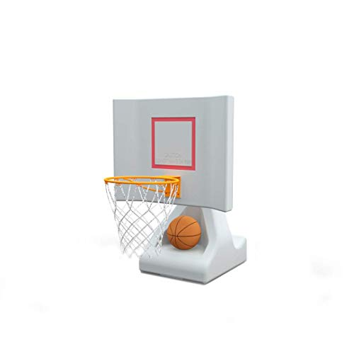POOL SHOT Rock the House Poolside Basketball Hoop with Powder Coated Hoop Stainless Steel Hardware and 2 Basketball