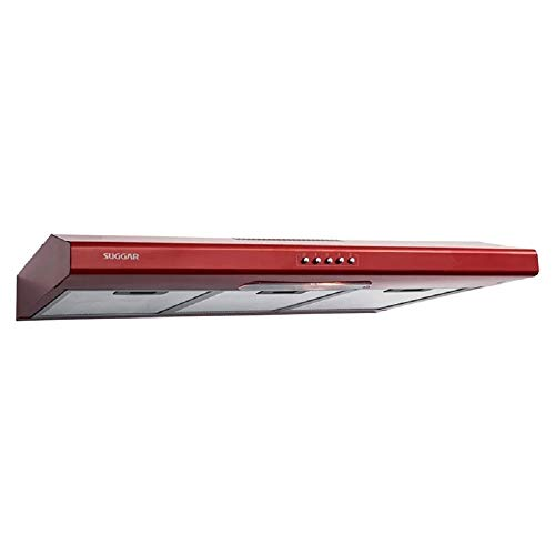 Depurador de ar Slim vermelho 80cm 110V Suggar